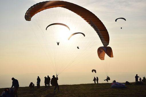 vuelo de parapente en La Muela