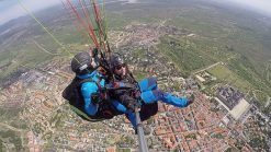 vuelo parapente en El Escorial