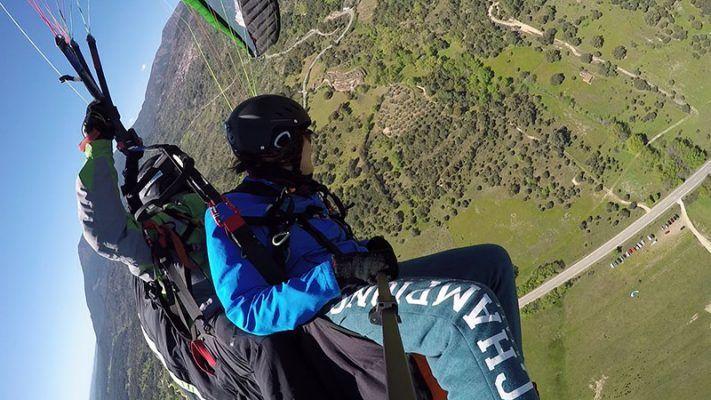 vuelo en parapente en Pedro Bernardo