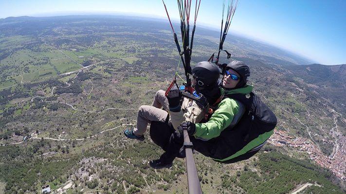 vuelo parapente en Pedro Bernardo