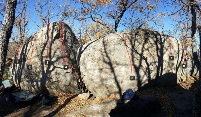Escalada en El Escorial_Boulder Silla de Felipe II